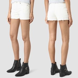 Allsaints Ann high-rise patch shorts